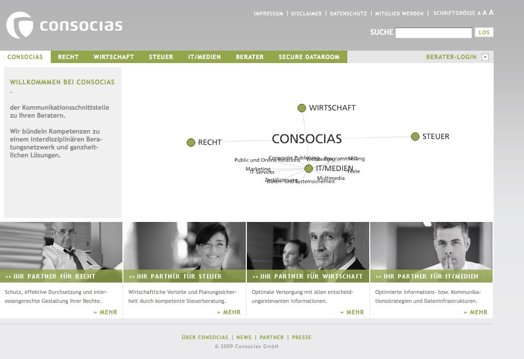 Consocias Startseite