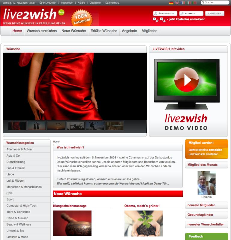 Live2wish Startseite